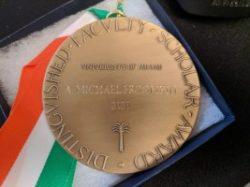 UM Faculty Scholarship Medal (reverse)