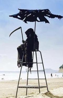 Grim Reaper at the Beach